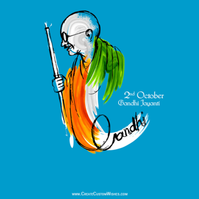 Create Custom Gandhi Jayanti Image for DP