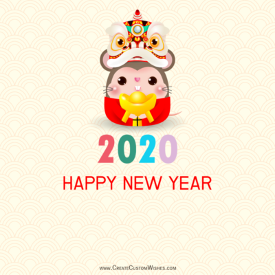 Free 2020 Happy Chinese New Year Wishes Card