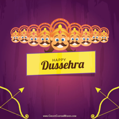 Free Create Custom Dussehra Wishes Images