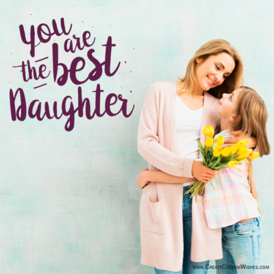 Happy Daughters Day Image with Name