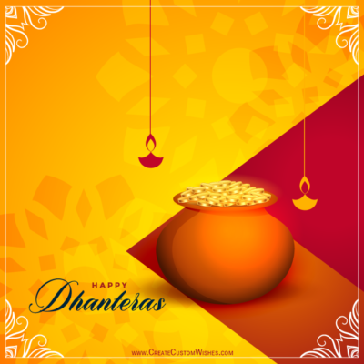 Free Create Happy Dhanteras Wishes Card