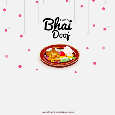 Free Customized Bhai Dooj Wishes Image