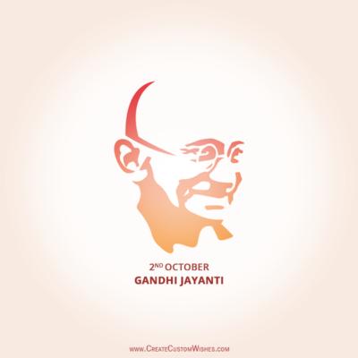 Free Customized Gandhi Jayanti Image Online