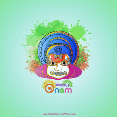 Free Write Name on Happy Onam Image