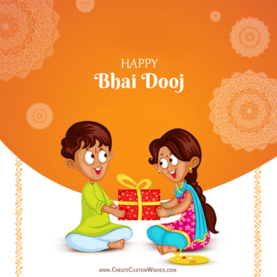 Happy Bhai Dooj Image with Name