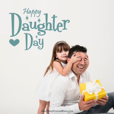 Free Create Daughters Day Image with Name