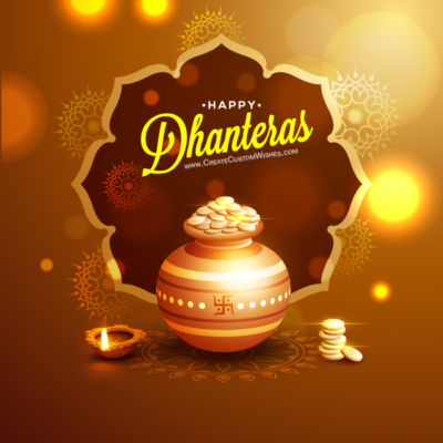 Make Custom Dhanteras Wishes Images