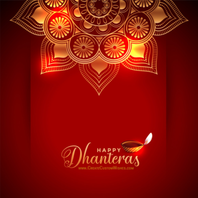 Happy Dhanteras Image with Message