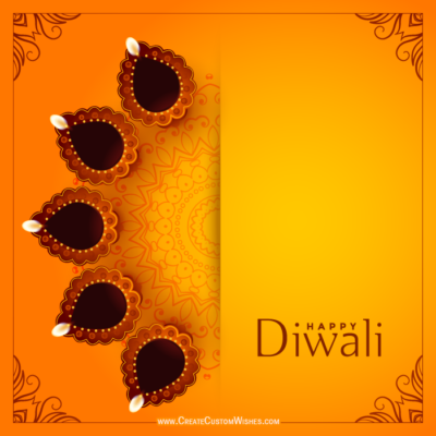 Happy Diwali Greeting Cards with Name