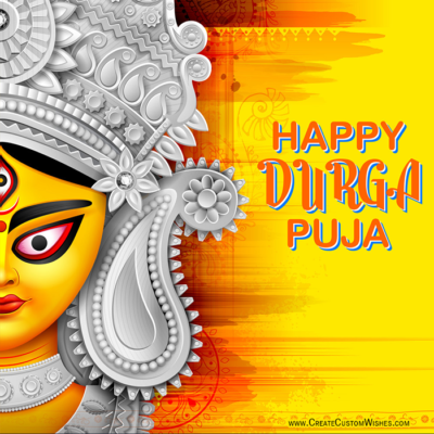 Happy Durga Puja Image with Name