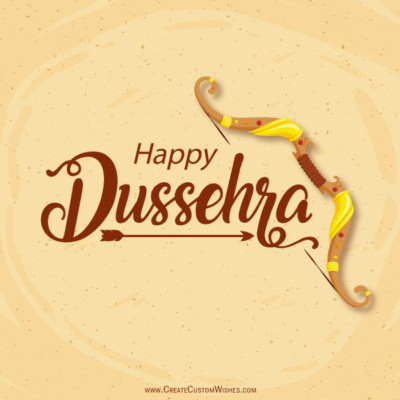 Happy Dussehra Greetings with Name
