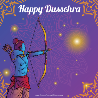 Happy Dussehra Wishes Images with Name