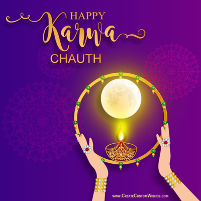 Happy Karwa Chauth Image with Name