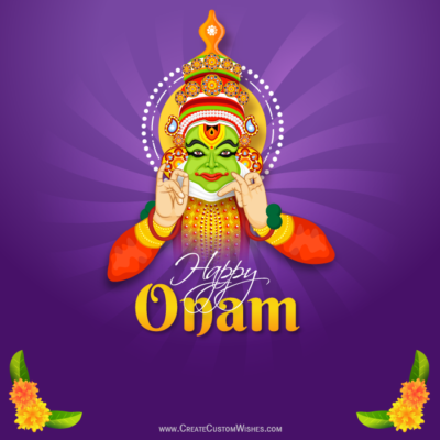Free Create Happy Onam Image with Name