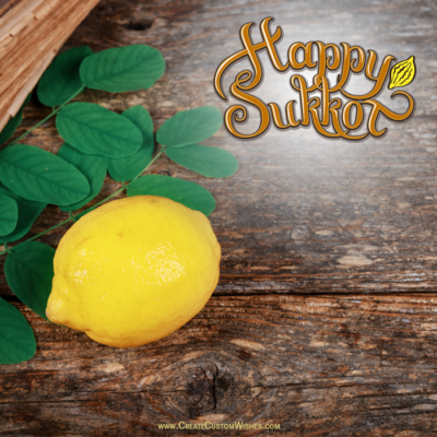 Happy Sukkot Greeting Cards with Name