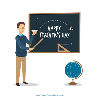 Happy Teachers Day Image with Title