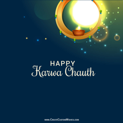 Karwa Chauth Greeting Cards with Name