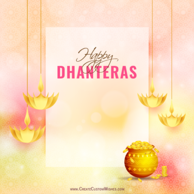 Latest Dhanteras Wishes Image with Name