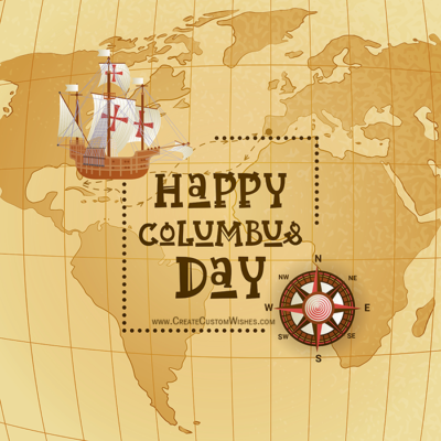 Make Columbus Day Image with Name