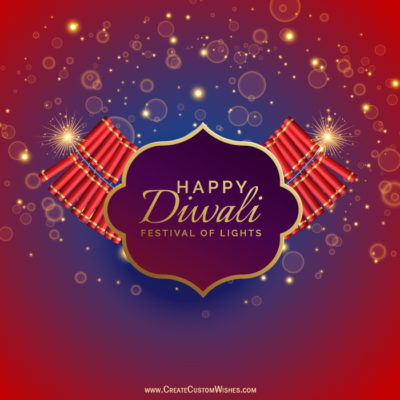 Make Happy DiwaliImage with Text Online