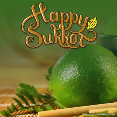 Make Happy Sukkot Image with Name