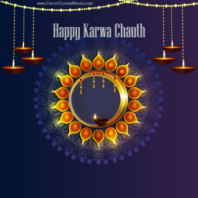 Happy Karwa Chauth Image with Name