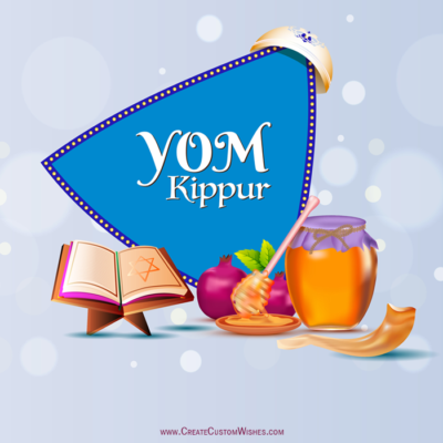 Make Yom Kippur Image with Name