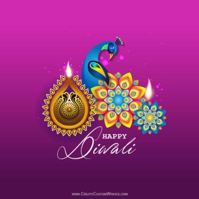 Online Editable Happy Diwali Greeting Cards