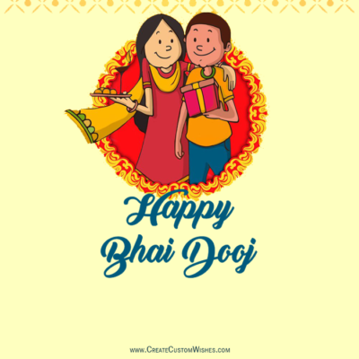 Personalized Bhai Dooj Wishes Image