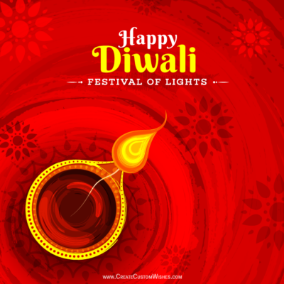 Put Logo on Happy Diwali Greeting Cards