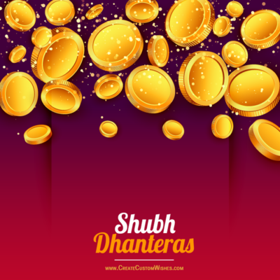 Shubh Dhanteras Wishes Images with Name