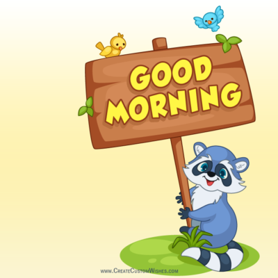 Write Message on Good Morning Image