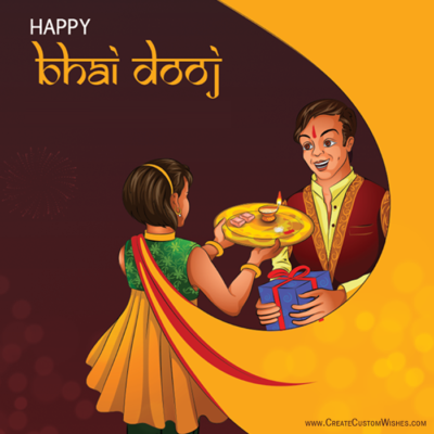 Write Name on Bhai Dooj Images FREE
