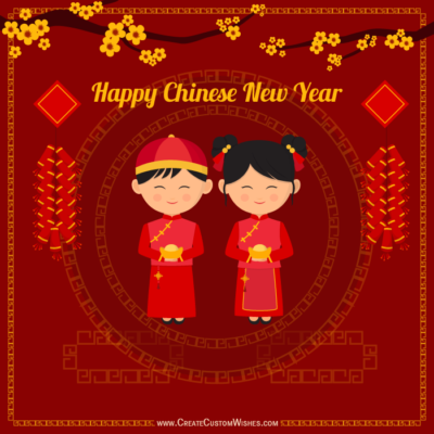 Write Name on Chinese New Year Wishes Image