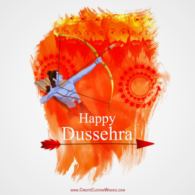 Write Name on Dussehra Wishes Images