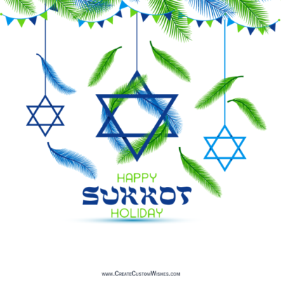 Write Name on Happy Sukkot Image FREE