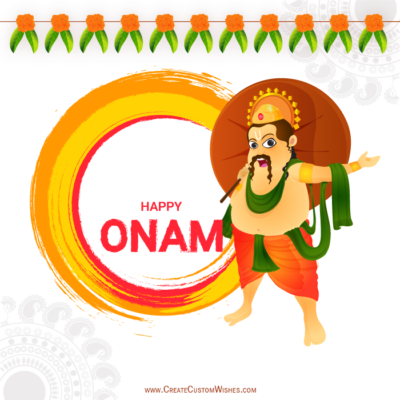 Write Name on Onam Wishes Image