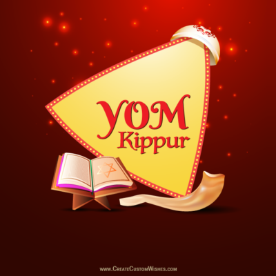 Write Name on Yom Kippur Image FREE