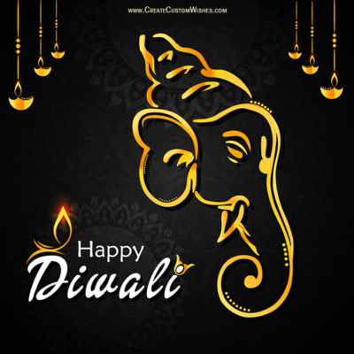 Write Your Name on Happy Diwali Photo