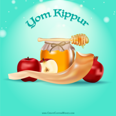 Yom Kippur Greeting Cards with Name