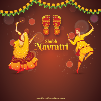 Happy Navratri Image with Name