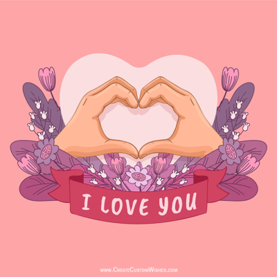 Create Custom Love You Image Online