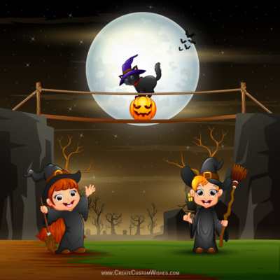 Create Scary Halloween Greeting Cards Online