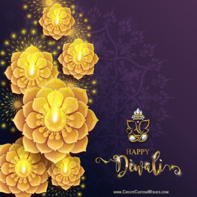 Greeting Cards: Happy Diwali with Name
