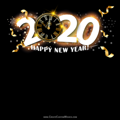 Happy New Year 2020 Greeting Image with Name