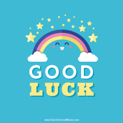 Write Message on Good Luck Image