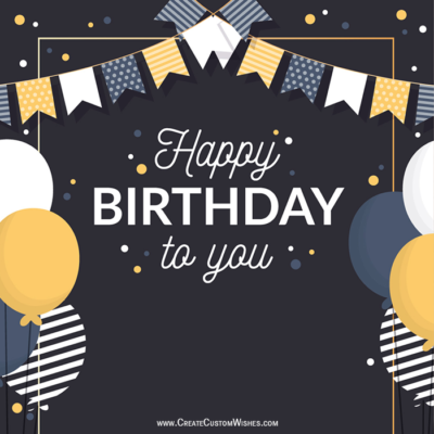 Write Name on Birthday Celebration Image