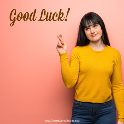 Write Name on Good Luck Girl Image
