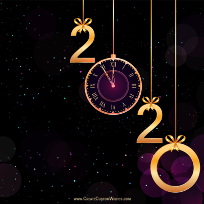 Write Name on Happy New Year Eve Image
