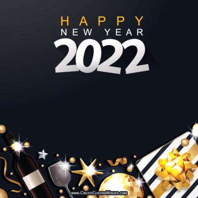 Write Name on Happy New Year's Eve Image
